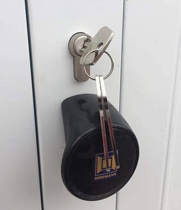 Hormann garage door locks